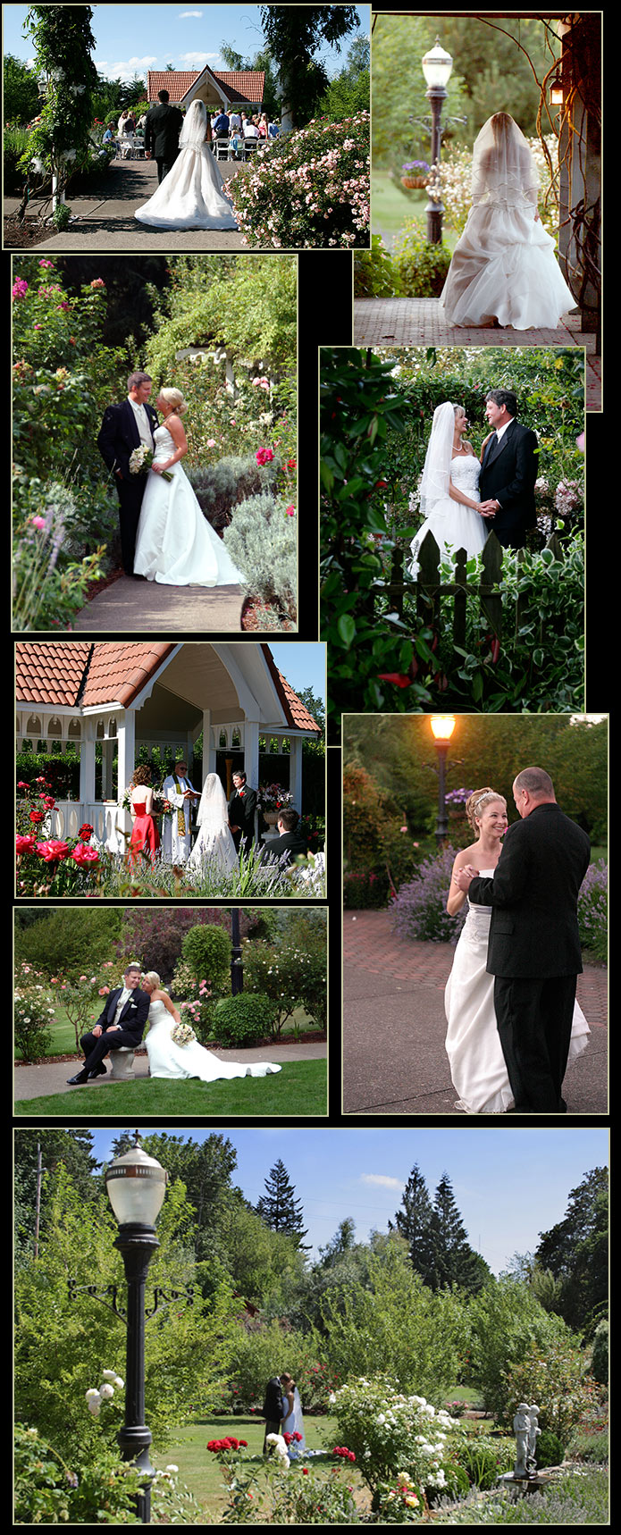 Wedding photography examples at the Eugene Country Inn